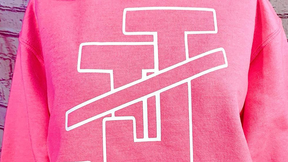 JJOA Bright Pink Unisex Hoodie