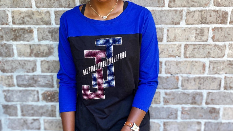 JJ Vintage - Cobalt 3/4 sleeves