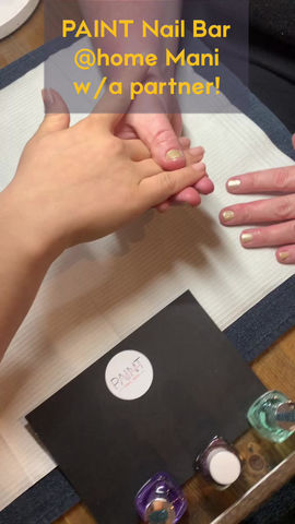 At home mani with a partner!
