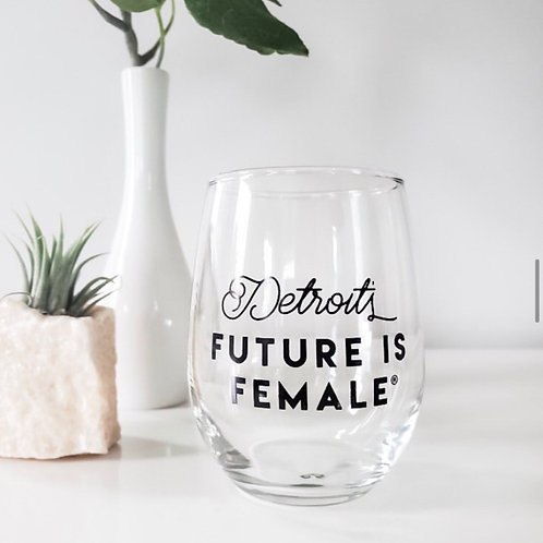 Classic Graphic Stemless Wine Glass