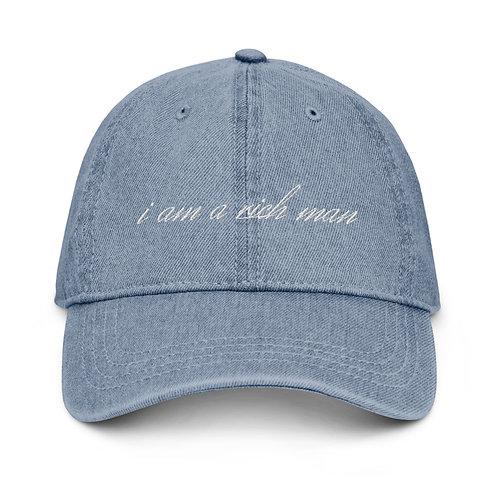 'i am a rich man' Denim Hat