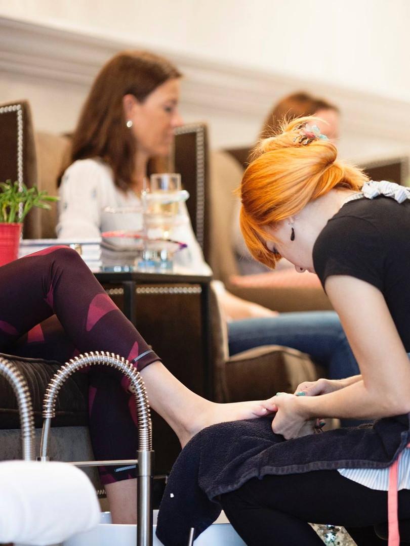 Luxury pedicures at PAINT Nail Bar Sarasota