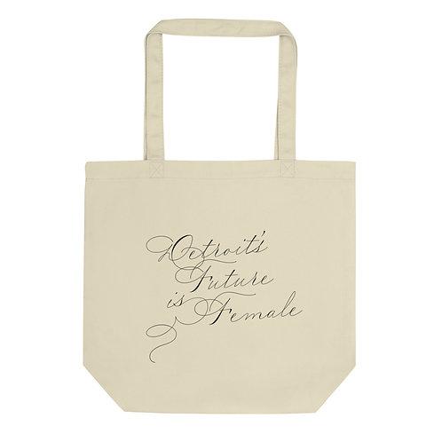 DFF Graphic Script Eco Tote Bag