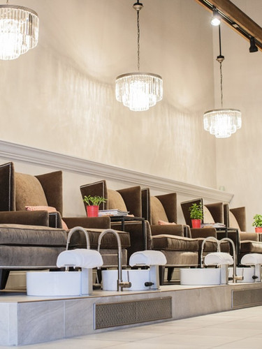 Luxury pedicaure at PAINT Nail Bar