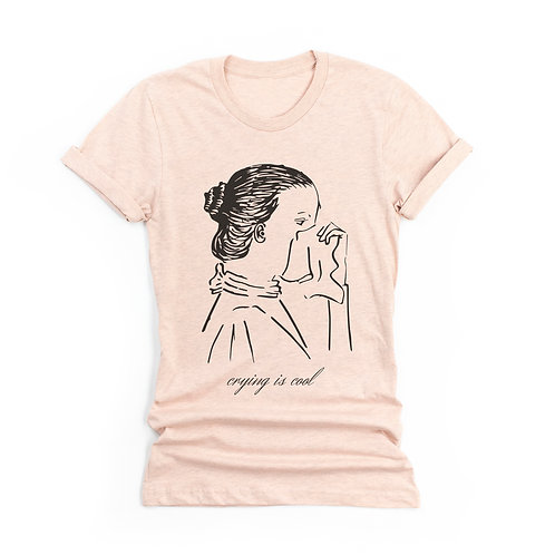 'Crying Is Cool' Artist Genderless T-Shirt