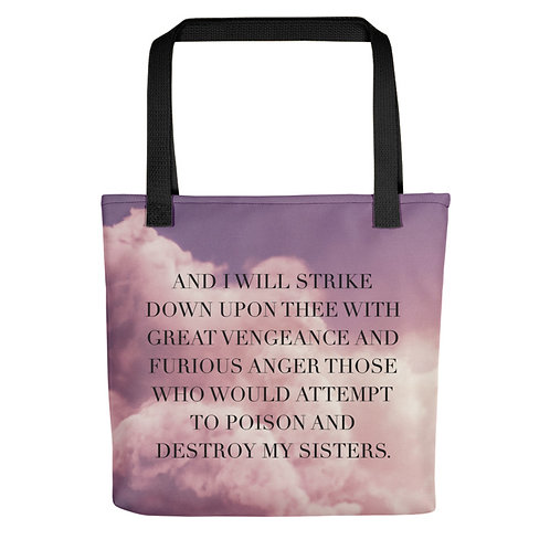 'Strike Down Upon Thee' Tote bag