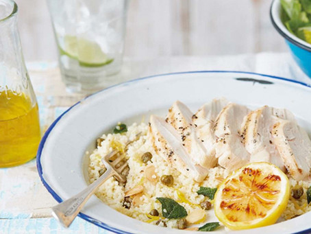 Summery Lemon Chicken Couscous Salad