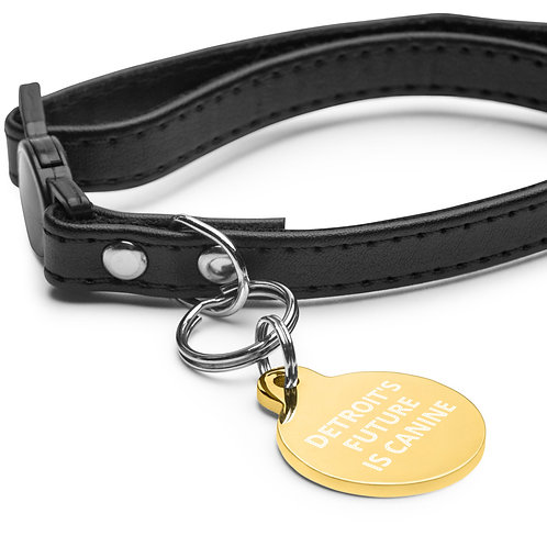 Detroit's future Is Canine engraved pet tag