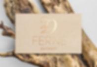 Ferne Boutique Detroit business card graphic design