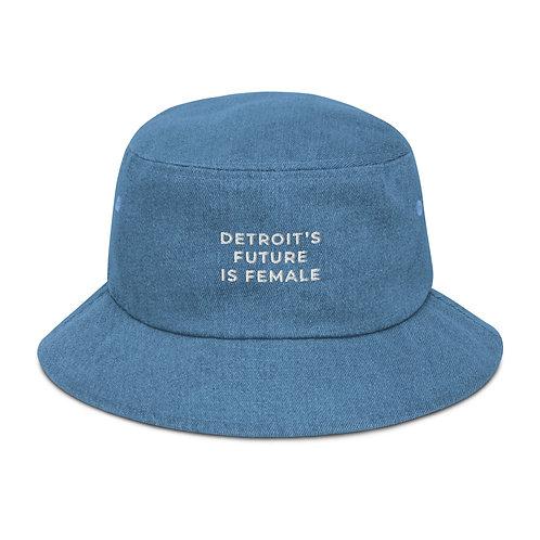 Embroidered Basics 90's Denim Bucket Hat