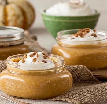 Individual Pumpkin Pies in a jar