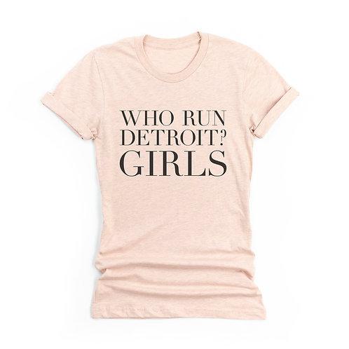 'Who Run Detroit' Genderless T-Shirt