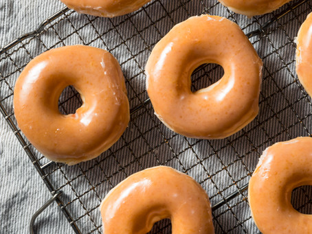 Baked Pumpkin Spice Coffee Donuts with Maple Glaze