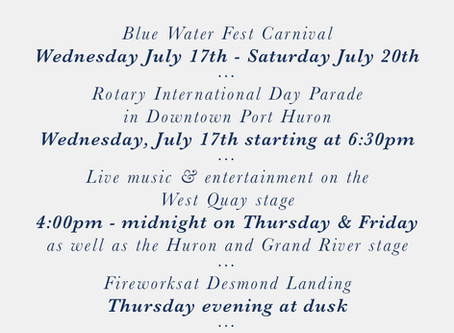 Your Blue Water Fest Itinerary