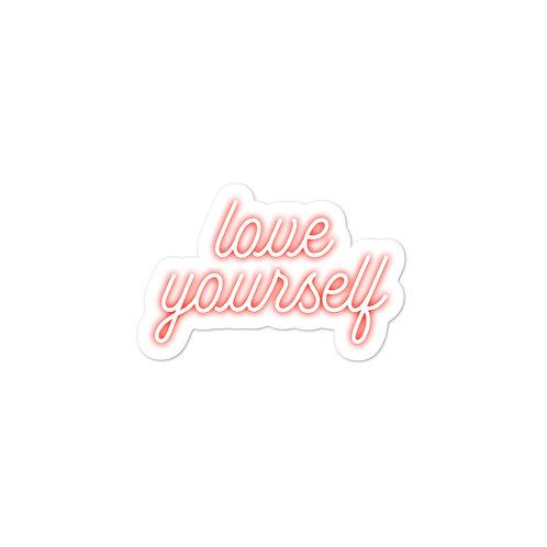 'love yourself' Sticker