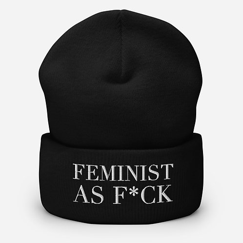 'Feminist As F*ck' Embroidered Beanie