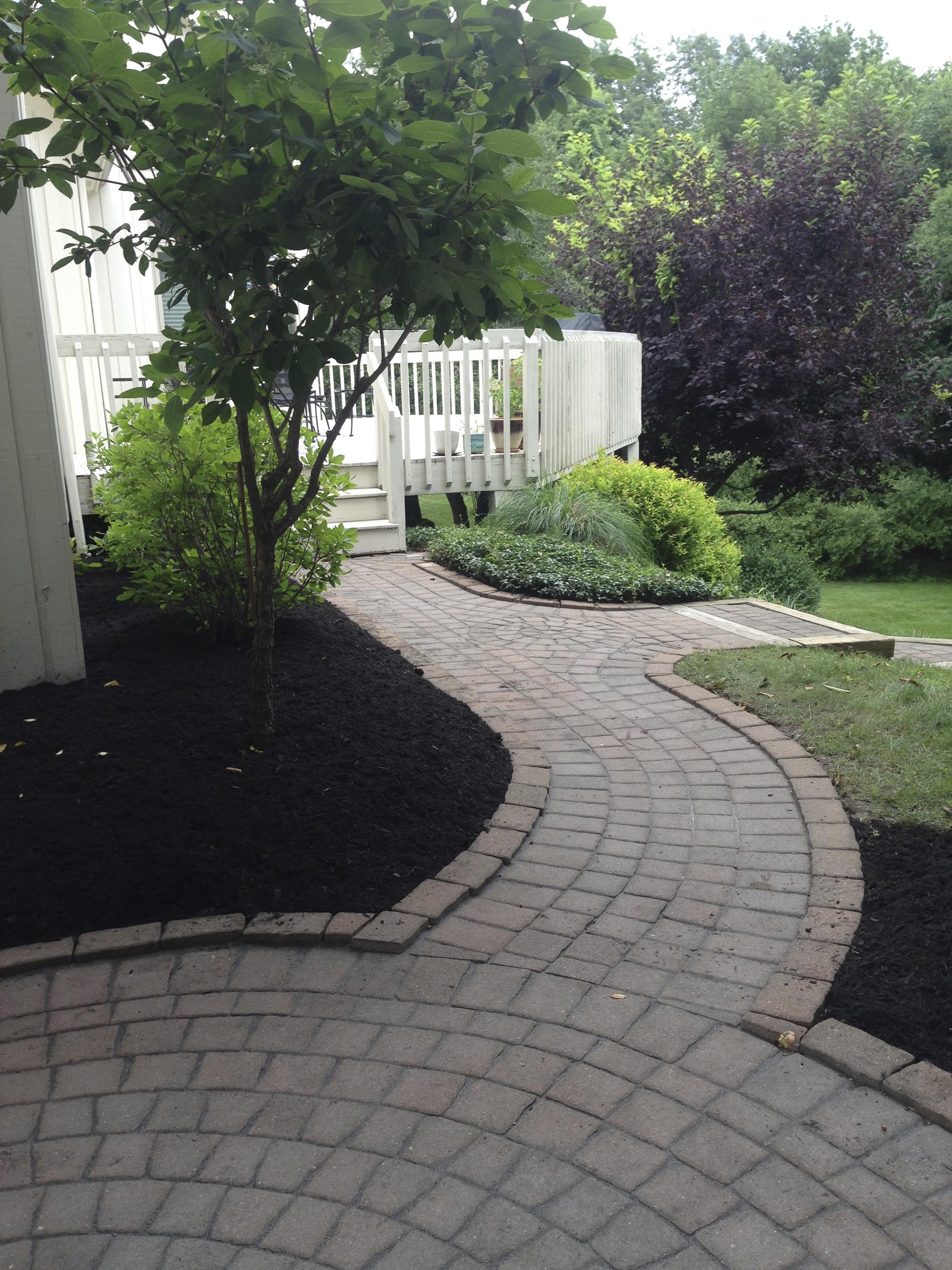 Walkway Repair & Mulching
