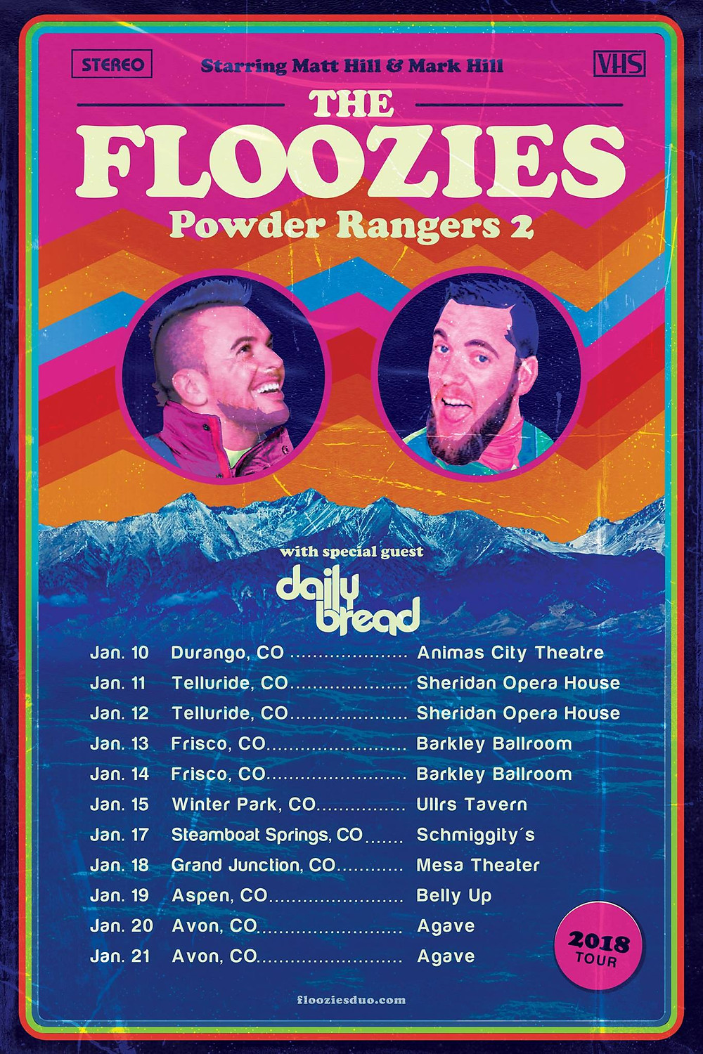 The Floozies Power Rangers 2 Winter Tour with Daily Bread