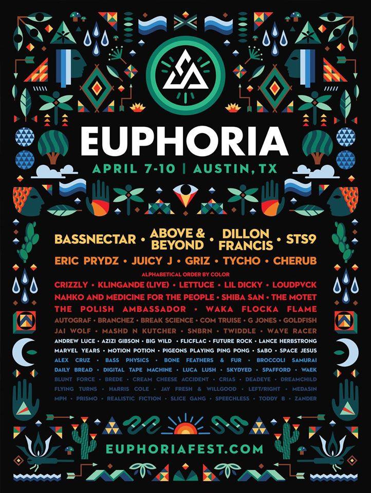 Full Euphoria Lineup 2016