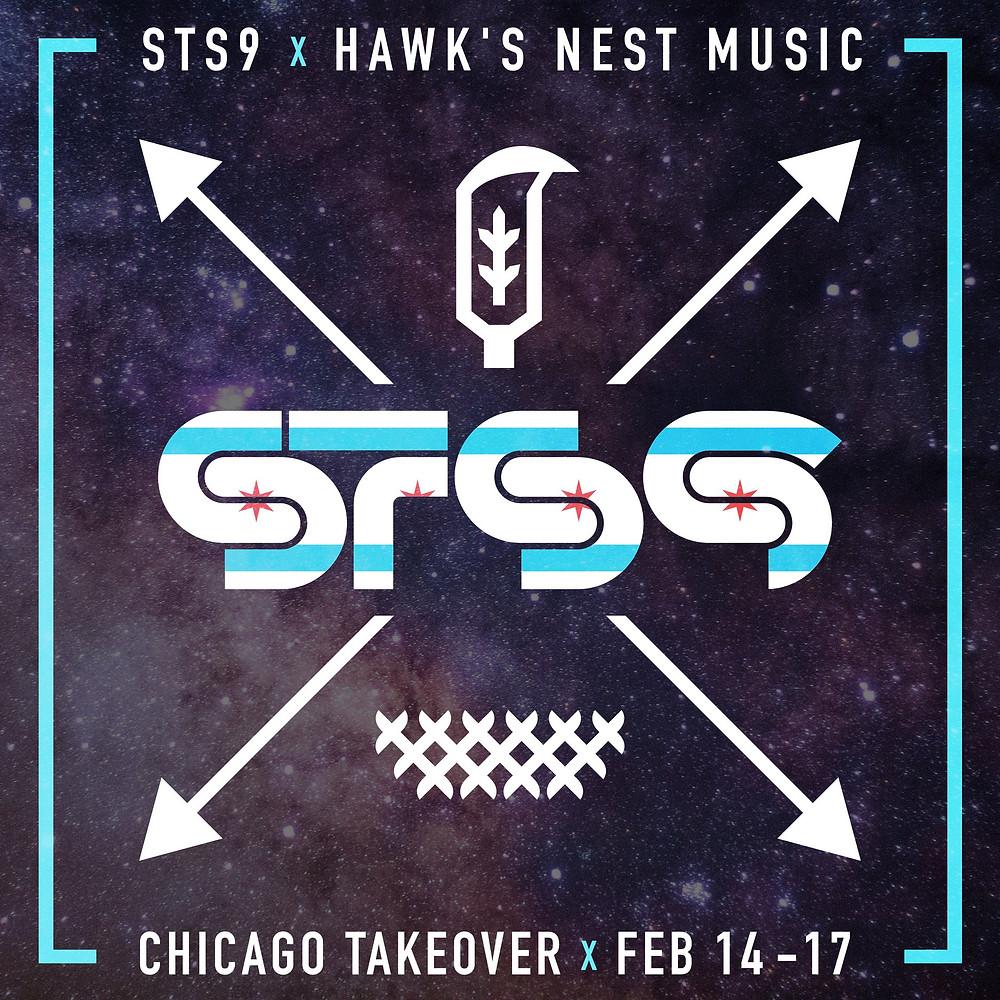 STS9 x Hawks Nest logo