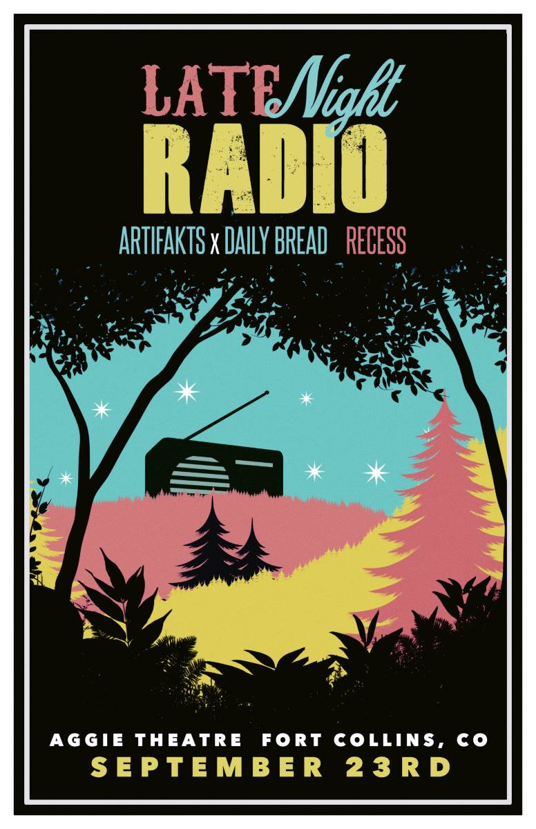 Late Night Radio with Daily Bread, Artifakts, Recess, Aggie Thater