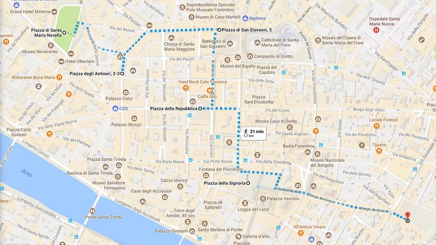 Free walking tours Florence MAPS