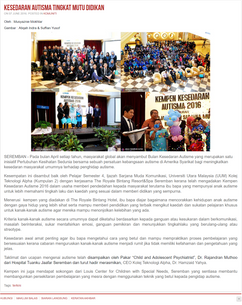 Dr. Rajan a child Psychiatrist and Julia Louis, Speaking on Autism, Autism Awareness Campaign at Royale Chulan Hotel, Seremban