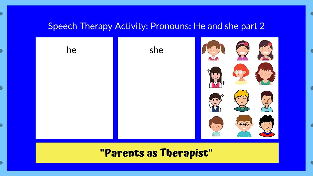 Speech Therapy post by Louis Center Seremban Learn Pronouns Part 2