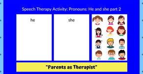 """Speech Therapy Activity: Teaching """"he"""" & """"she"""" Part 2..."""