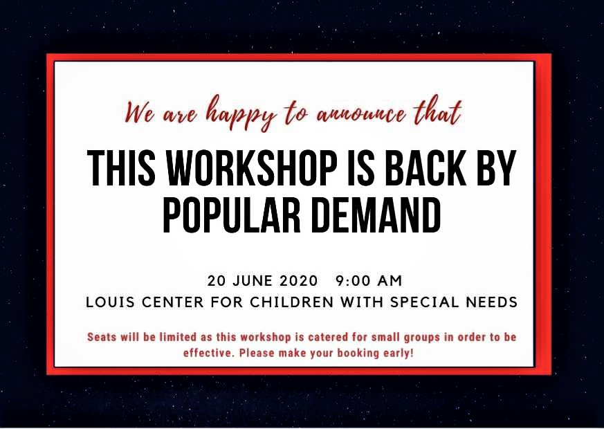 Louis center for special needs and imu workshop autism adhd by child psychiatrist, Dr Rajandran Muthoo