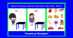 """Speech Therapy Activity: """"he"""" & """"she"""" Part 3"""