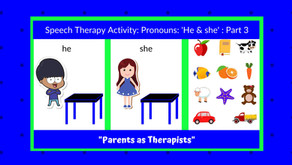 "Speech Therapy Activity: ""he"" & ""she"" Part 3"