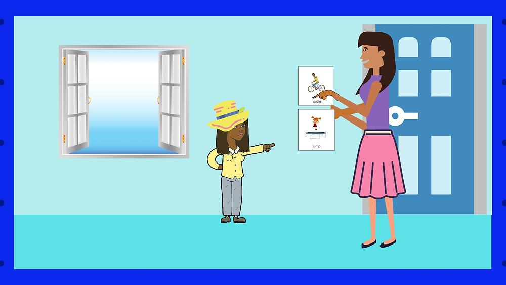 Speech Therapist Seremban learning to communicate choice of activity pt 2