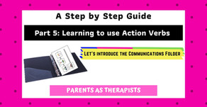 Speech Therapy Activity: Teach your Child to use Action Verbs to Communicate-Part 5