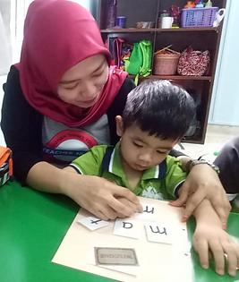 Louis Autism Center Seremban, EIP, teaching phonics