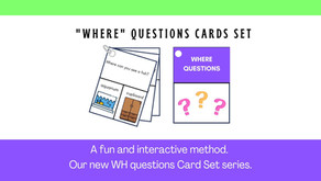 Speech Therapy Activity: Teach your child to answer to WHERE questions-Intermediate Level