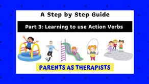Speech Therapy Activity: Teach your Child to use Action Verbs to Communicate-Part 3