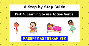 Speech Therapy Activity: Teach your Child to use Action Verbs to Communicate-Part 4