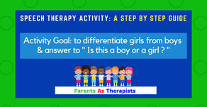 Speech Therapy Activity-Is this a Boy or a Girl?