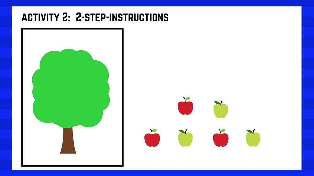 Autism centre seremban speech therapy lesson Activity 2 apple tree part 1