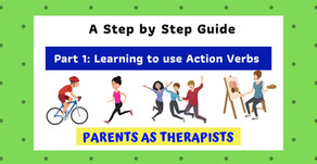 Speech Therapy Activity: Teaching your Child to use Action Verbs to Communicate-Part 1