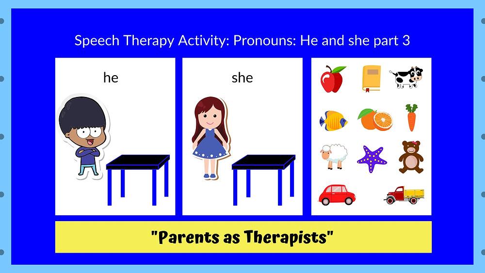 Speech Therapist blog by Louis Center Seremban Pronouns Part 3