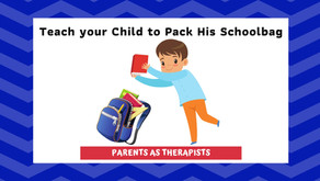 Speech Therapy Activity: A Sure Way to Teach your little one to Pack His Schoolbag.