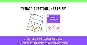 Speech Therapy Activity: Teach your child to answer to WHAT questions.