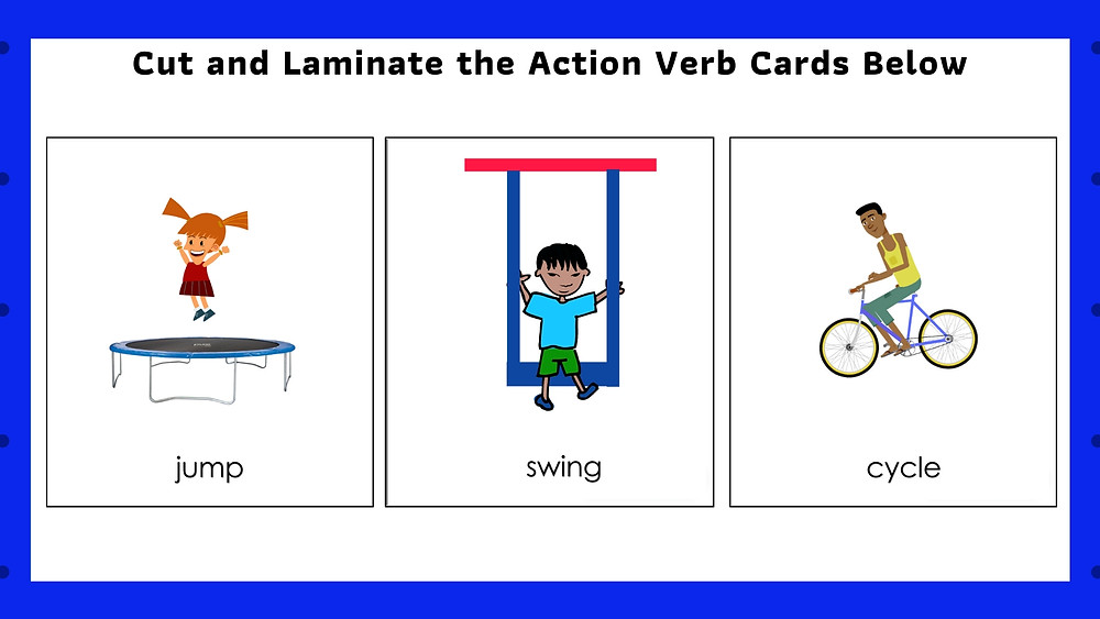 Speech Therapy Seremban Services action verbs flashcards