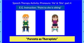 Speech Therapy Activity: Pronouns 'he' & 'she' : Part 4