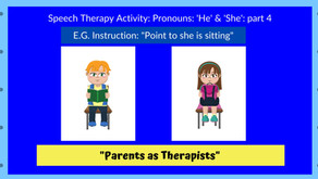 Speech Therapy Activity: Pronouns 'he' & 'she' : Part 4