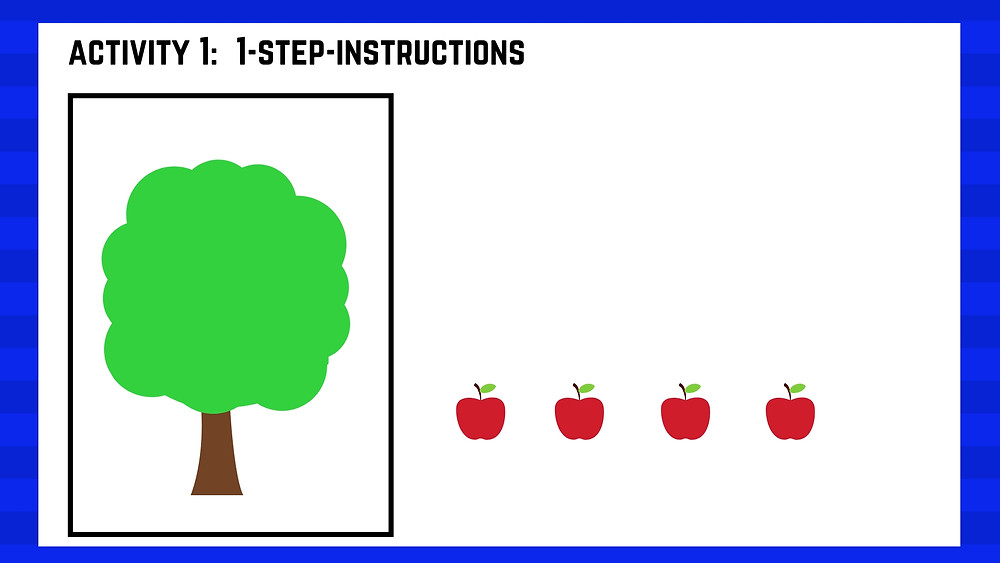 Autism centre seremban speech therapy lesson apple Activity 2 tree part 1