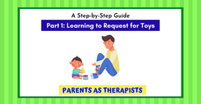 Speech Therapy Activity: Teach your Child to Request for her Toys..Part 1