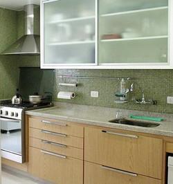 Armário em alumínio e Vidro cozinha